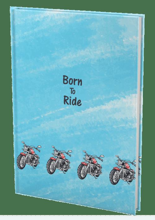 עטיפה לספר אופנוע אחורי
