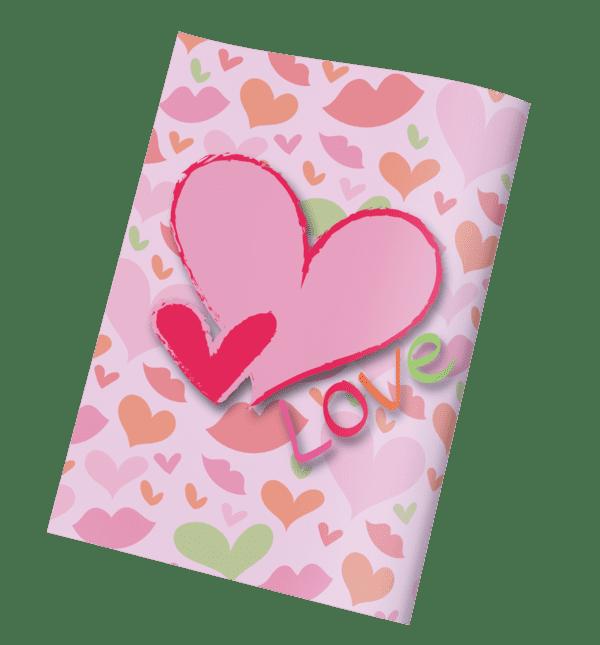 עטיפות למחברת לבבות