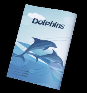 עטיפות למחברת דולפינים
